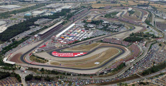 The fateful curve 12th in Montmelo Circuit